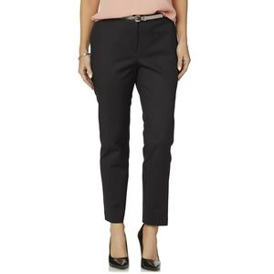 Women's Missy Belted Pant, 6, Black New w/tag